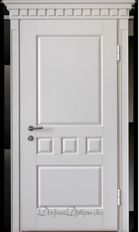 Дверь металлическая. Отделка ольха