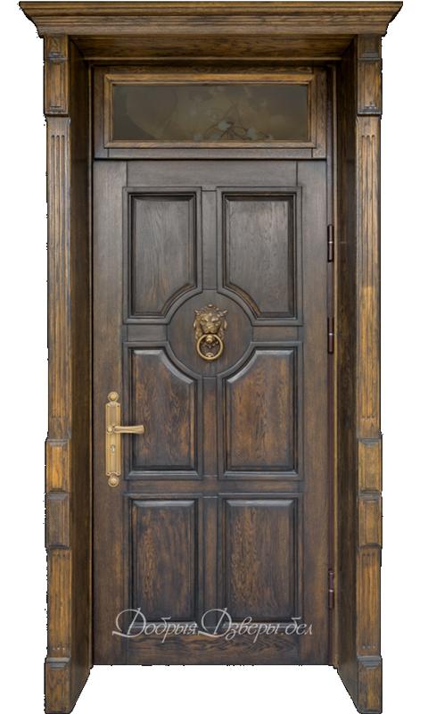 Дверь металлическая. Отделка дуб