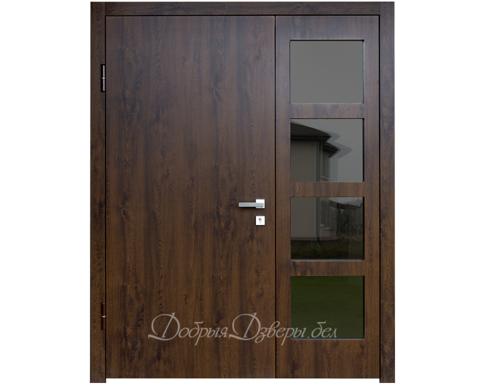 Дверь металлическая. Отделка МДФ, плёнка