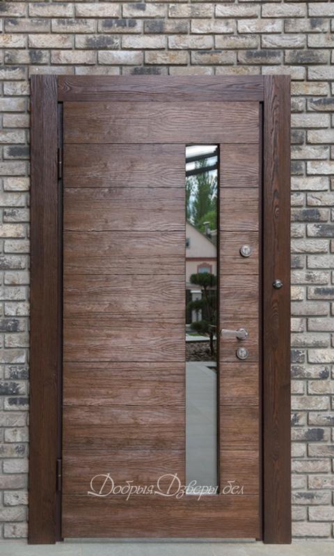 Дверь металлическая. Отделка сосна